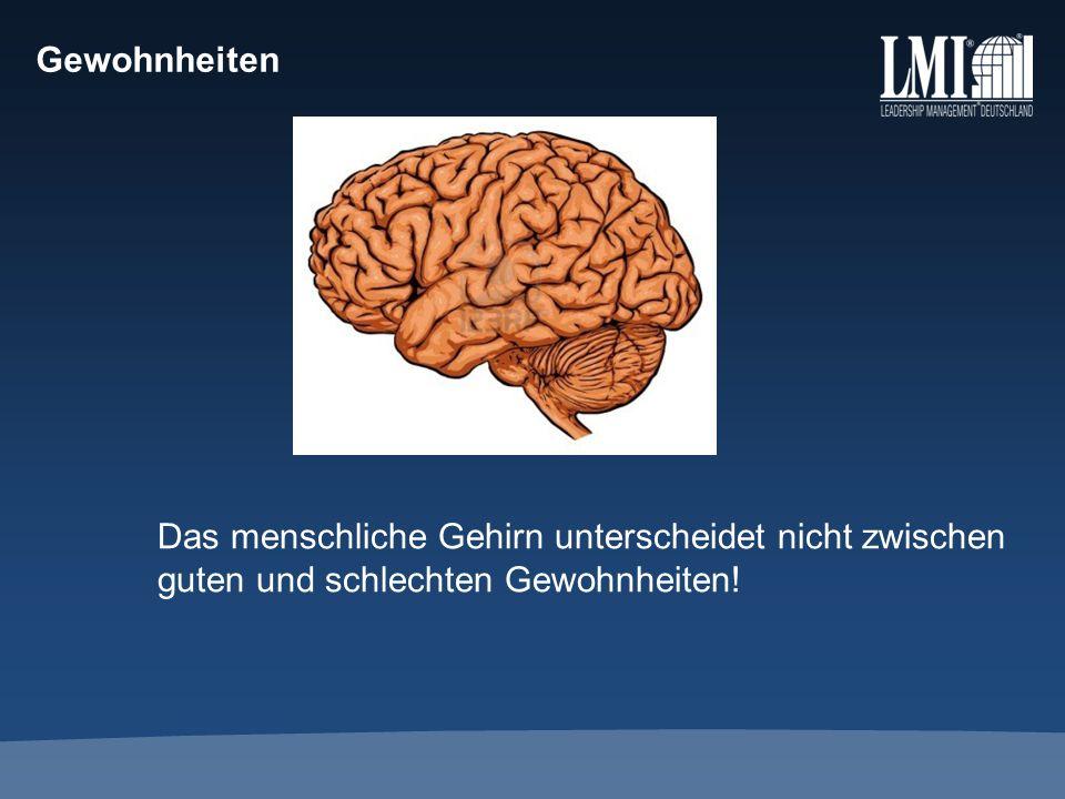 Gewohnheiten Das menschliche Gehirn unterscheidet nicht zwischen guten und schlechten Gewohnheiten!