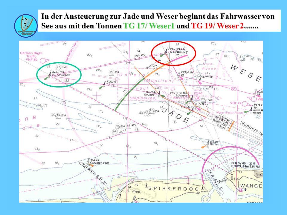 Wolfgang Kösling In der Ansteuerung zur Jade und Weser beginnt das Fahrwasser von See aus mit den Tonnen TG 17/ Weser1 und TG 19/ Weser 2.......