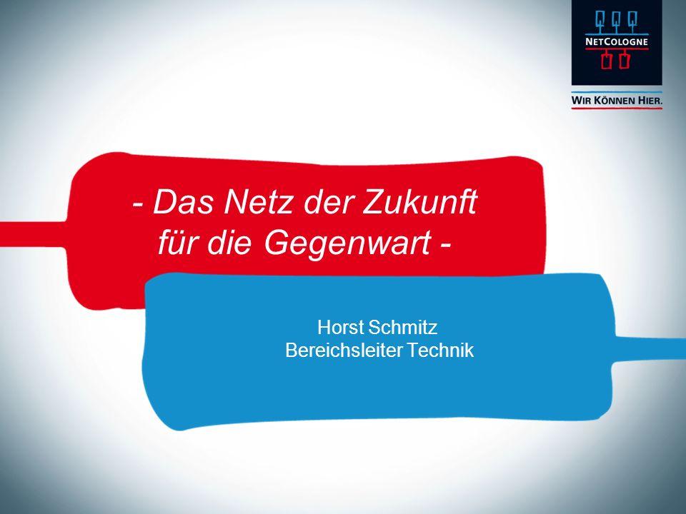 - Das Netz der Zukunft für die Gegenwart - Horst Schmitz Bereichsleiter Technik