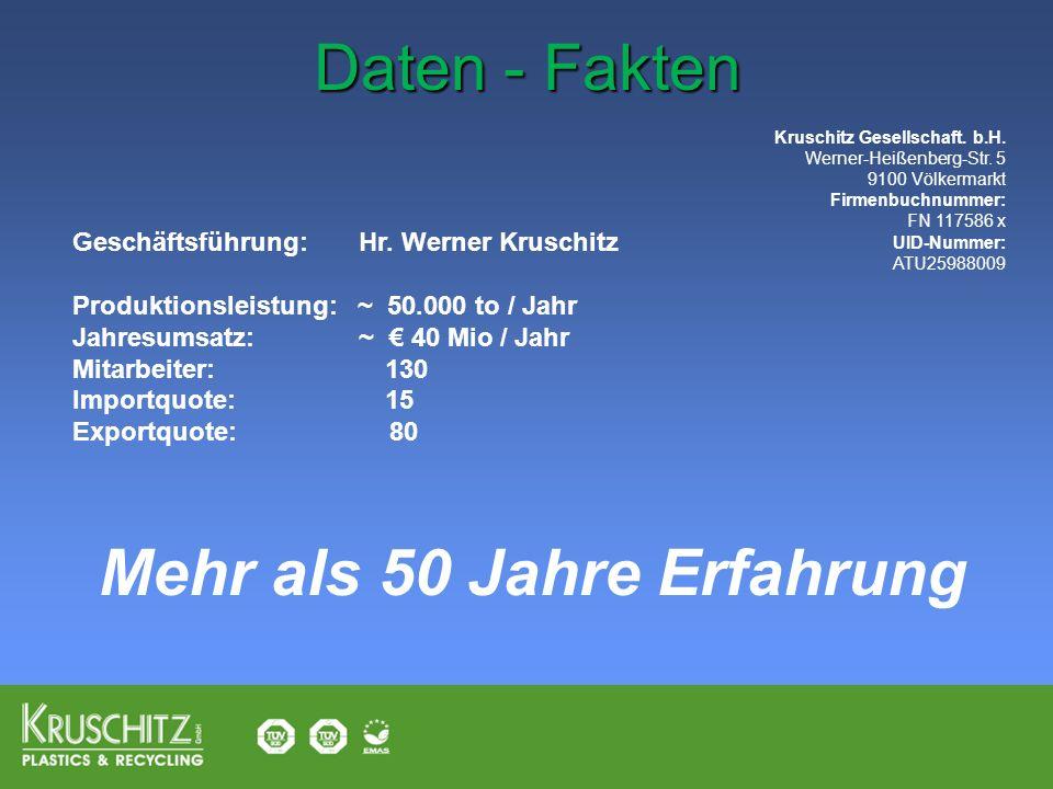 Kruschitz Gesellschaft. b.H. Werner-Heißenberg-Str. 5 9100 Völkermarkt Firmenbuchnummer: FN 117586 x UID-Nummer: ATU25988009 Geschäftsführung: Hr. Wer