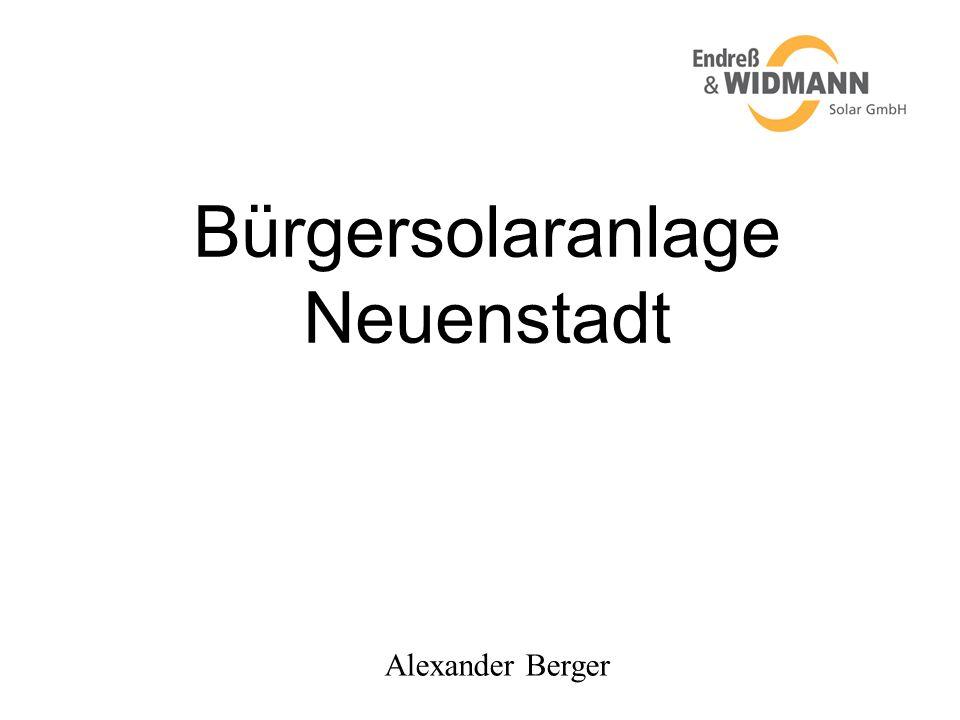 Bürgersolaranlage Neuenstadt Alexander Berger