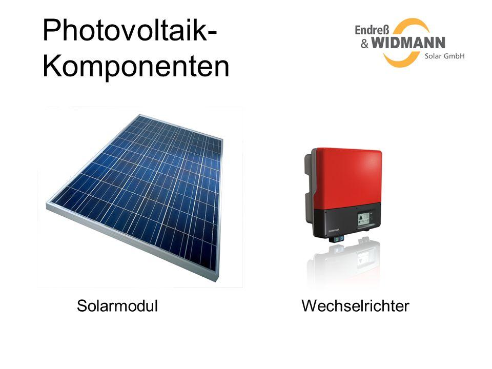Photovoltaik- Komponenten SolarmodulWechselrichter