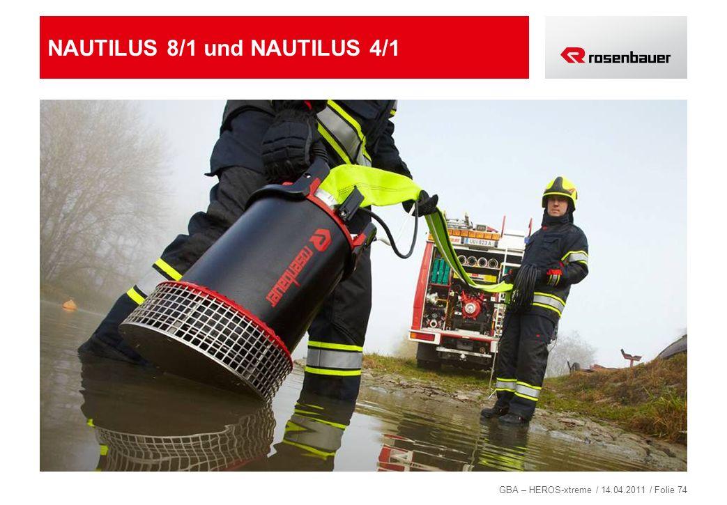 GBA – HEROS-xtreme / 14.04.2011 / Folie 74 NAUTILUS 8/1 und NAUTILUS 4/1