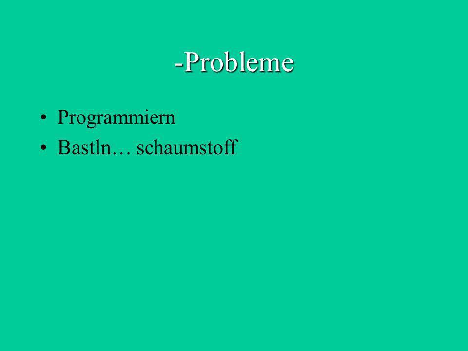 -Probleme Programmiern Bastln… schaumstoff
