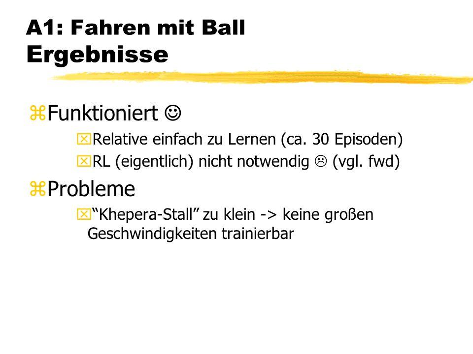 A1: Fahren mit Ball Ergebnisse zFunktioniert xRelative einfach zu Lernen (ca.