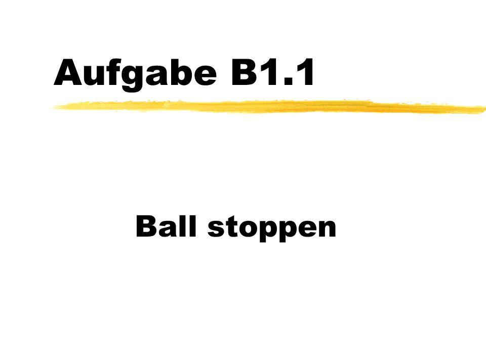 Aufgabe B1.1 Ball stoppen