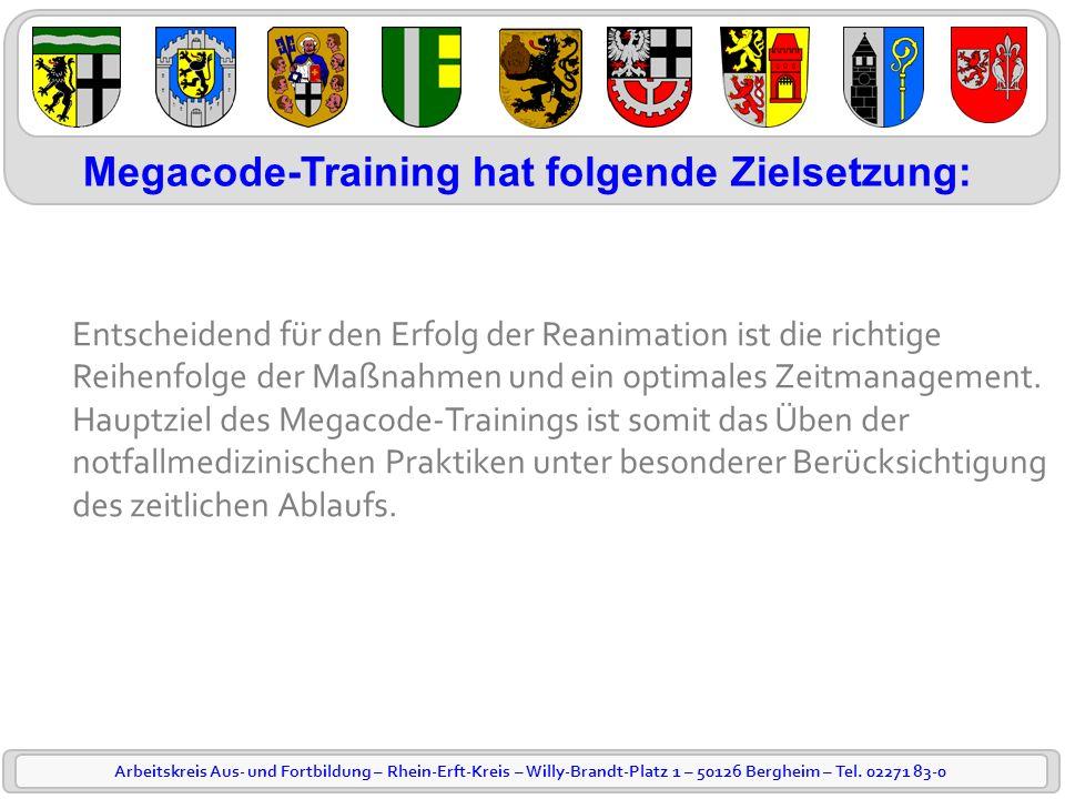 Arbeitskreis Aus- und Fortbildung – Rhein-Erft-Kreis – Willy-Brandt-Platz 1 – 50126 Bergheim – Tel. 02271 83-0 Entscheidend für den Erfolg der Reanima