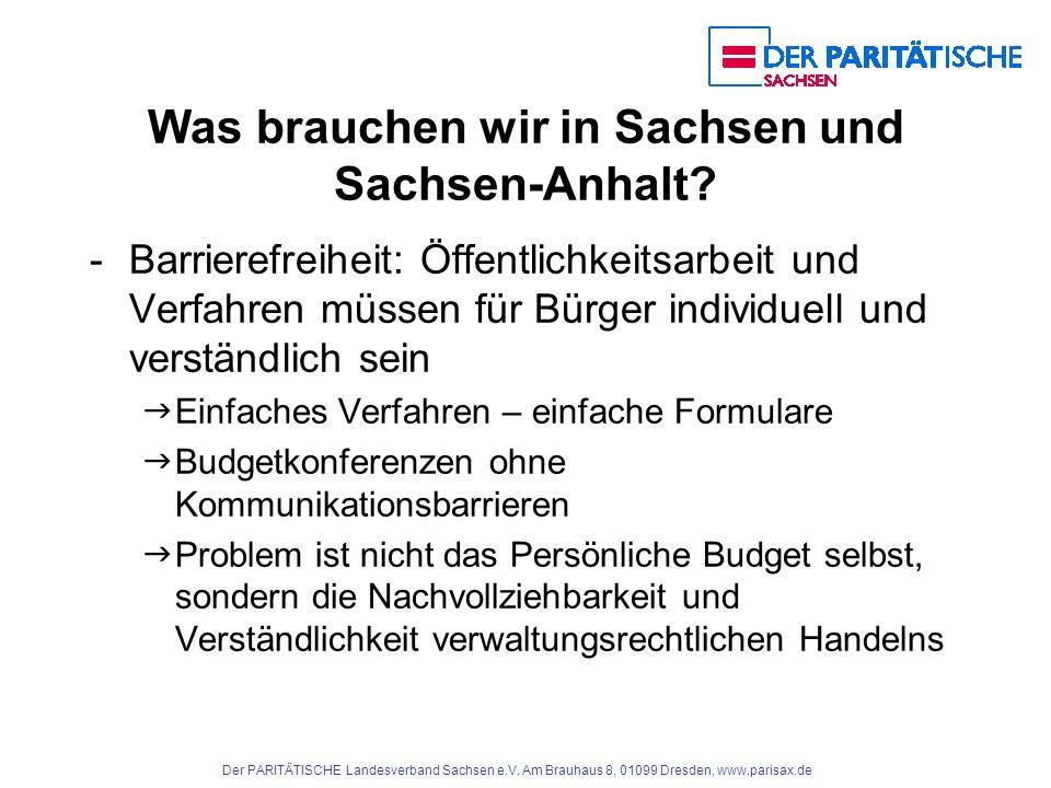 Der PARITÄTISCHE Landesverband Sachsen e.V.