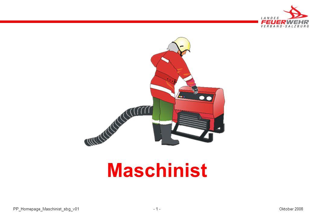 - 1 -Oktober 2008PP_Homepage_Maschinist_sbg_v01 Maschinist