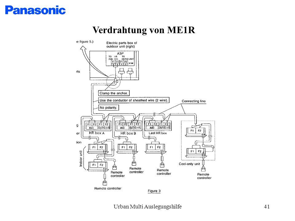 Urban Multi Auslegungshilfe41 Verdrahtung von ME1R
