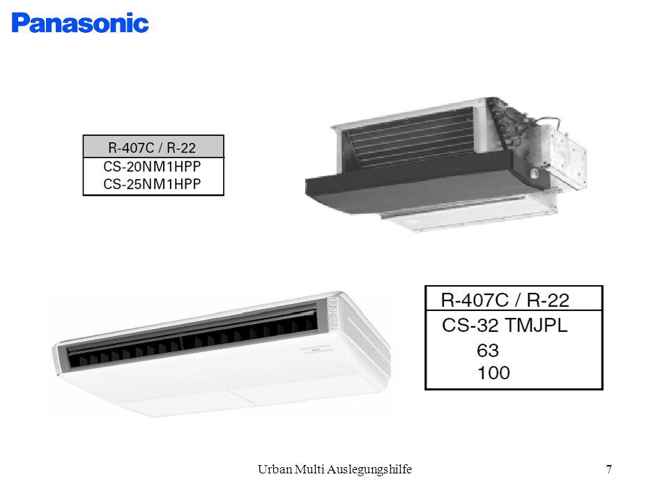 Urban Multi Auslegungshilfe18 MA1R Technische Daten MA1R
