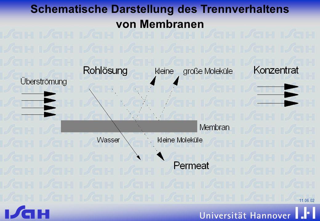 11.06.02 Schematische Darstellung des Trennverhaltens von Membranen