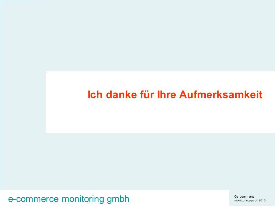 ©e-commerce monitoring gmbh 2010 e-commerce monitoring gmbh Ich danke für Ihre Aufmerksamkeit