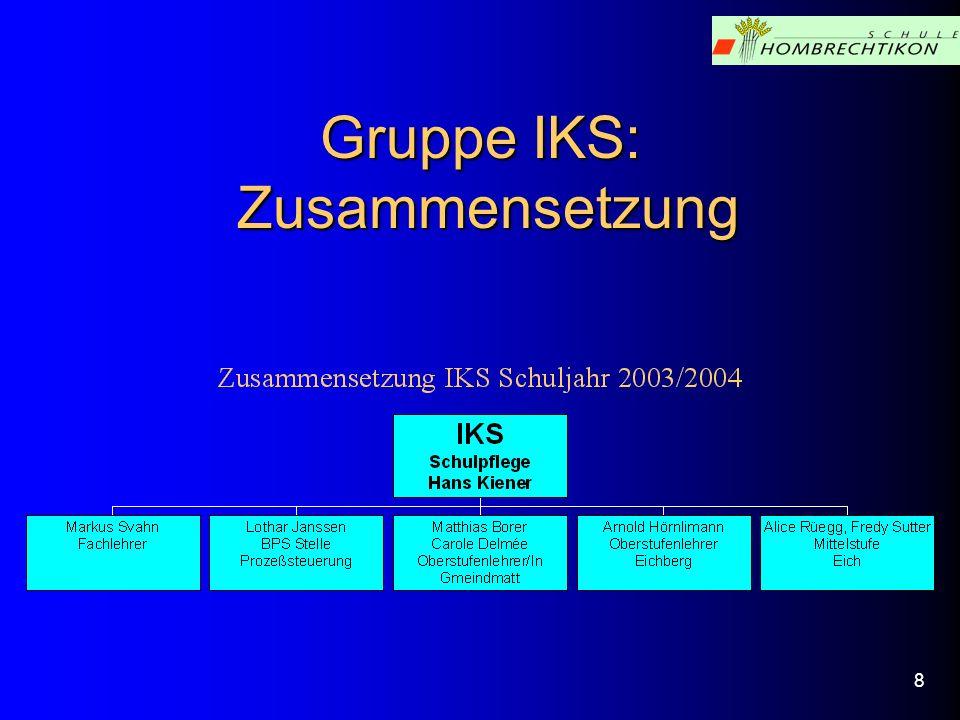 Gruppe IKS: Zusammensetzung 8
