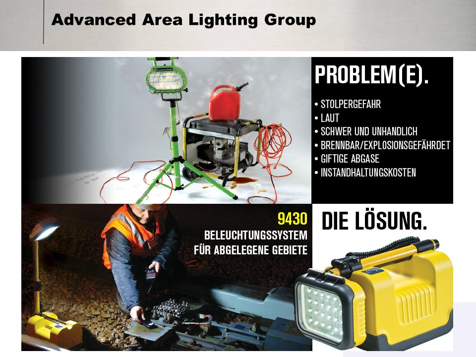 Advanced Area Lighting Group Produktfamilie RALS 9430 RALS 9450B RALS 9460 RALS 9470
