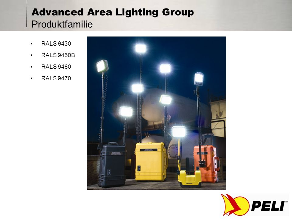 Advanced Area Lighting Group Produktfamilie RALS 9430 RALS 9450B RALS 9460 RALS 9470