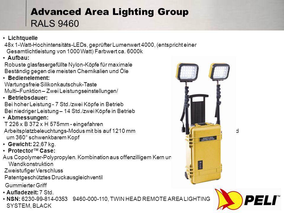 Advanced Area Lighting Group RALS 9470 Lichtquelle: 96x 1-Watt-Hochintensitäts-LEDs, geprüfter Lumenwert 8000, (entspricht einer Gesamtlichtleistung von 2000 Watt) Farbwert ca.