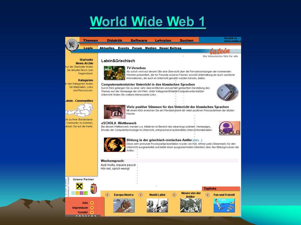 World Wide Web 2 World Wide Web 2 l 1989/90: CERN – Europäisches Kern- forschungsinstitut in Genf: Kommunikations-modell für Wissenschafter.