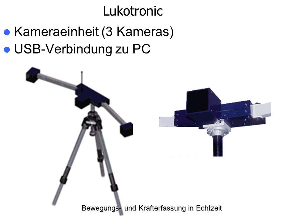 Bewegungs- und Krafterfassung in Echtzeit Kameraeinheit (3 Kameras) USB-Verbindung zu PC Lukotronic