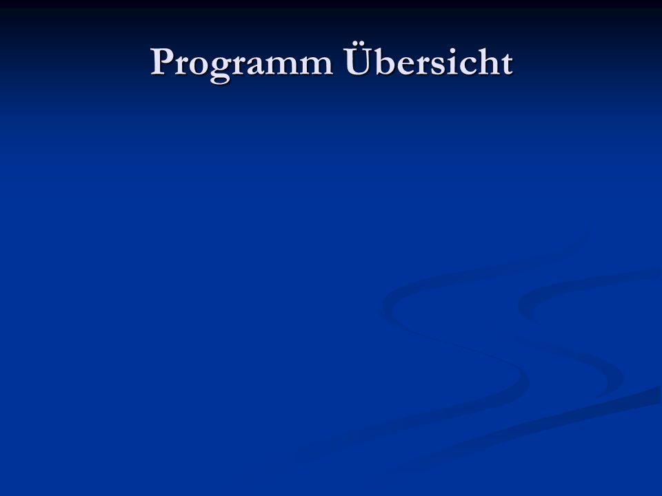 Programm Übersicht