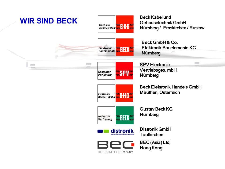 WIR SIND BECK Beck GmbH & Co. Elektronik Bauelemente KG Nürnberg Beck Kabel und Gehäusetechnik GmbH Nürnberg / Emskirchen / Rustow Beck Elektronik Han
