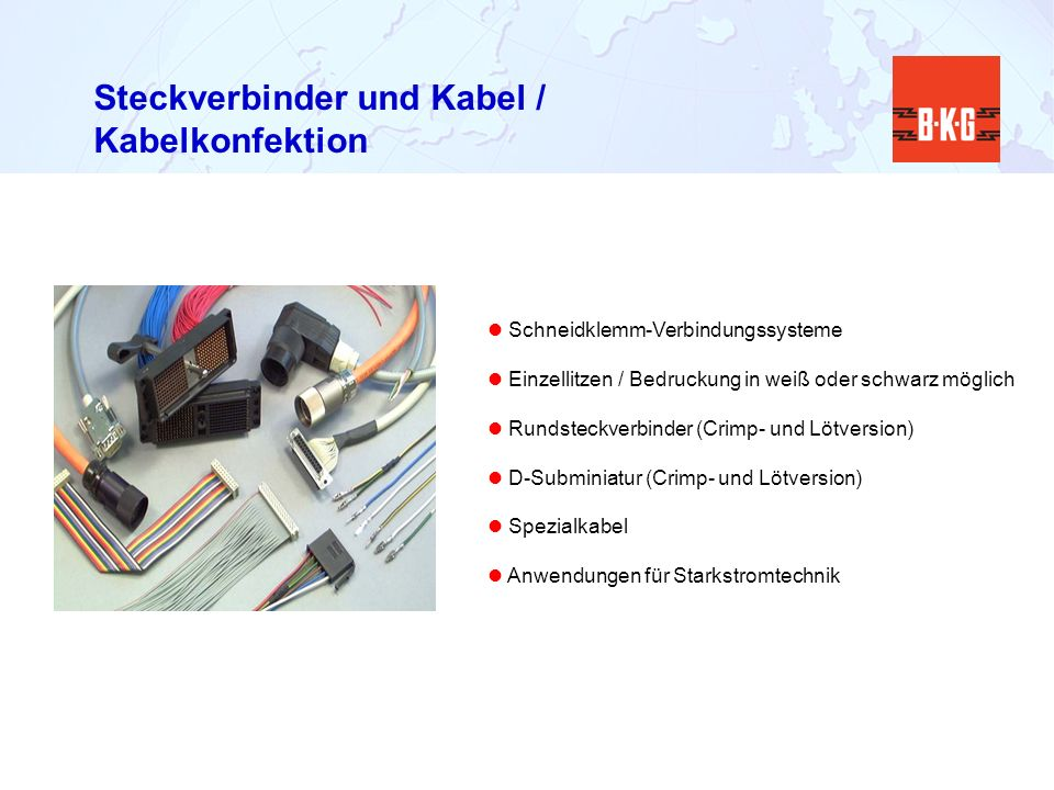 Steckverbinder und Kabel / Kabelkonfektion Schneidklemm-Verbindungssysteme Einzellitzen / Bedruckung in weiß oder schwarz möglich Rundsteckverbinder (
