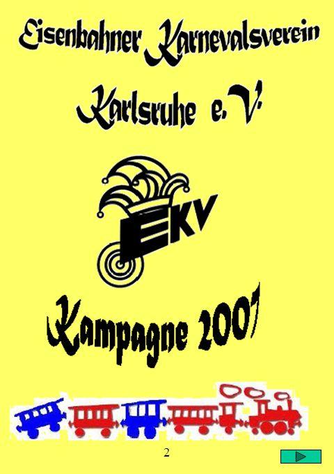 Auf den nachfolgenden Seiten bietet der Eisenbahner Karnevals- Verein Karlsruhe e.V. dem interessierten Besucher dieser Homepage einen Einblick in sei