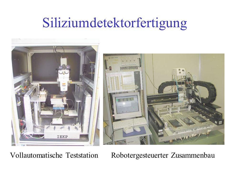 Siliziumdetektorfertigung Vollautomatische TeststationRobotergesteuerter Zusammenbau