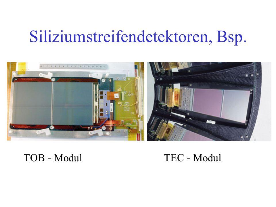 Siliziumstreifendetektoren, Bsp. TOB - ModulTEC - Modul