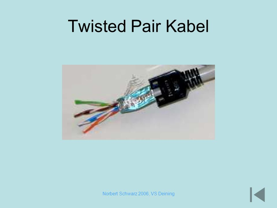 Norbert Schwarz 2006, VS Deining Twisted Pair Kabel