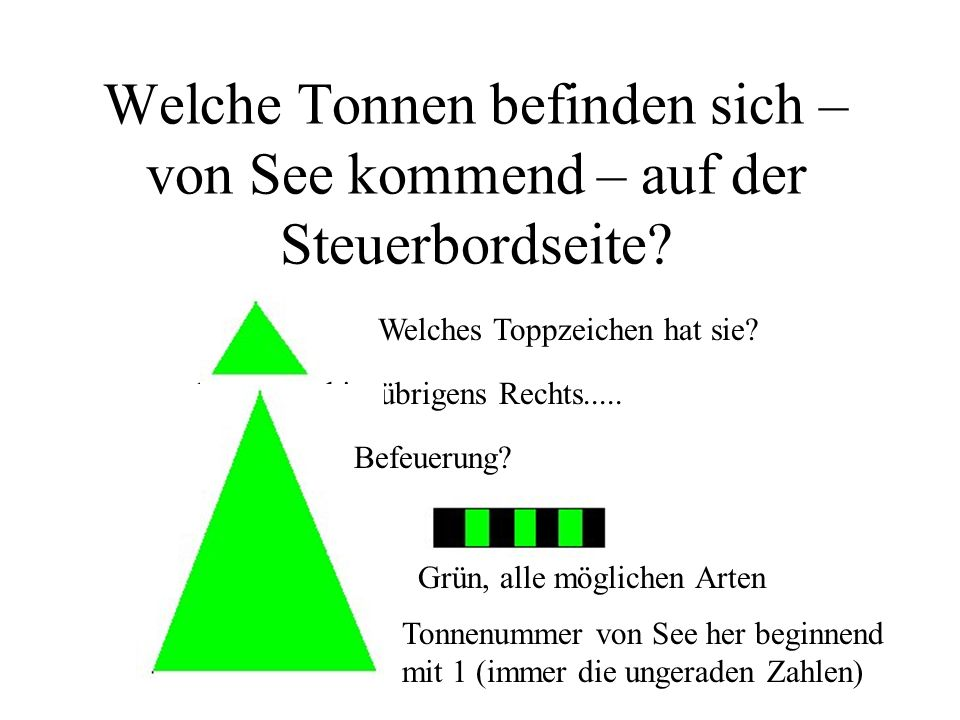 An Backbord ist demnach alles anders...