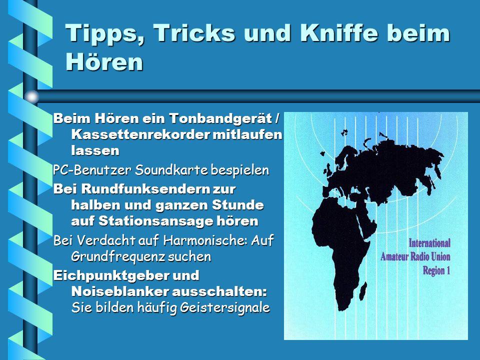 Tipps, Tricks und Kniffe beim Hören Beim Hören ein Tonbandgerät / Kassettenrekorder mitlaufen lassen PC-Benutzer Soundkarte bespielen Bei Rundfunksend