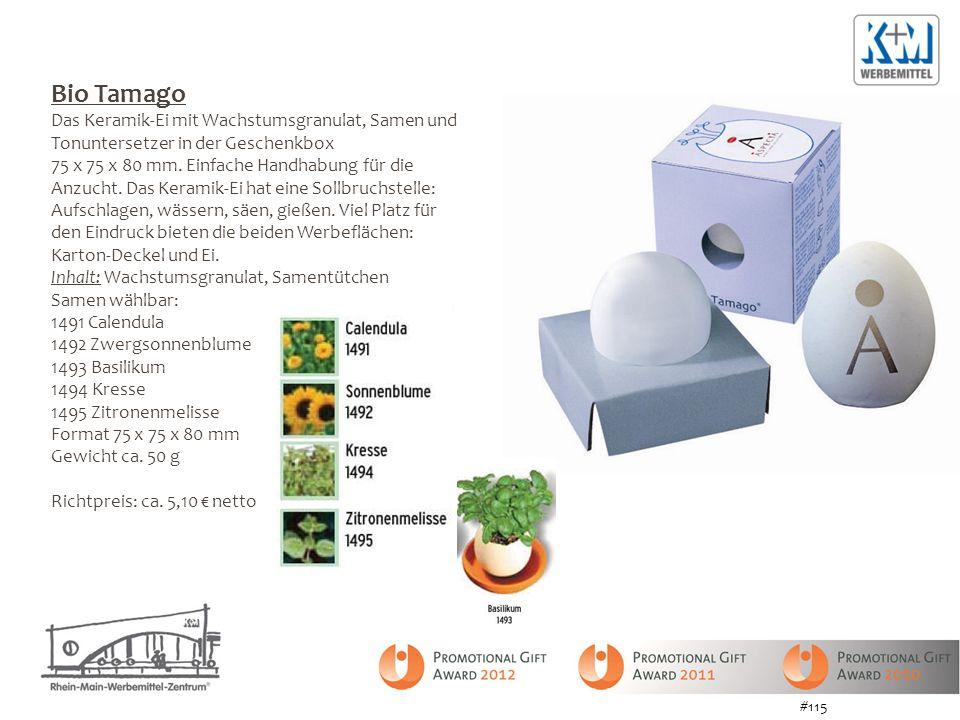 Bio Tamago Das Keramik-Ei mit Wachstumsgranulat, Samen und Tonuntersetzer in der Geschenkbox 75 x 75 x 80 mm.