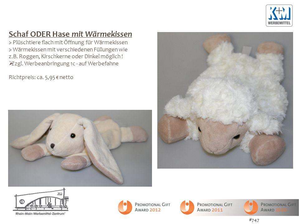 #747 Schaf ODER Hase mit Wärmekissen > Plüschtiere flach mit Öffnung für Wärmekissen > Wärmekissen mit verschiedenen Füllungen wie z.B. Roggen, Kirsch