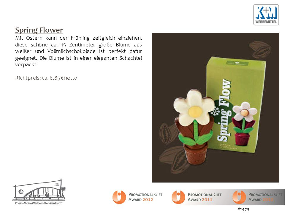 Spring Flower Mit Ostern kann der Frühling zeitgleich einziehen, diese schöne ca. 15 Zentimeter große Blume aus weißer und Vollmilchschokolade ist per