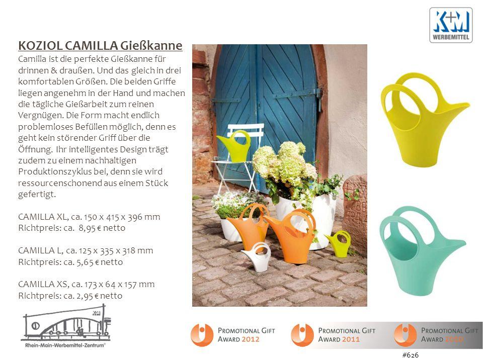 KOZIOL CAMILLA Gießkanne Camilla ist die perfekte Gießkanne für drinnen & draußen. Und das gleich in drei komfortablen Größen. Die beiden Griffe liege