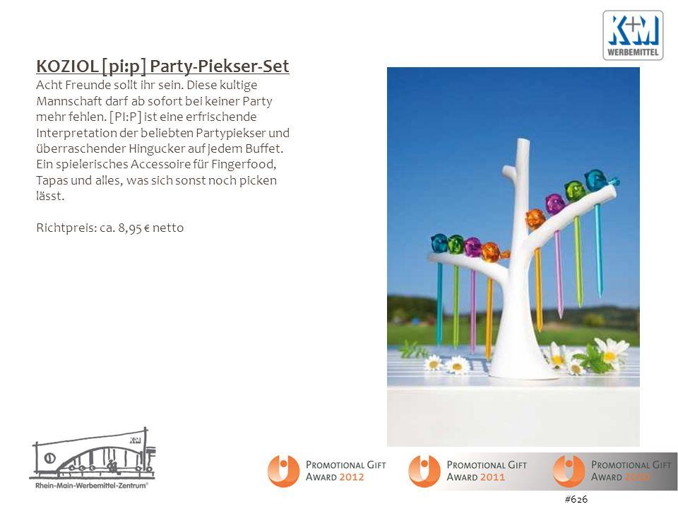 KOZIOL [pi:p] Party-Piekser-Set Acht Freunde sollt ihr sein. Diese kultige Mannschaft darf ab sofort bei keiner Party mehr fehlen. [PI:P] ist eine erf