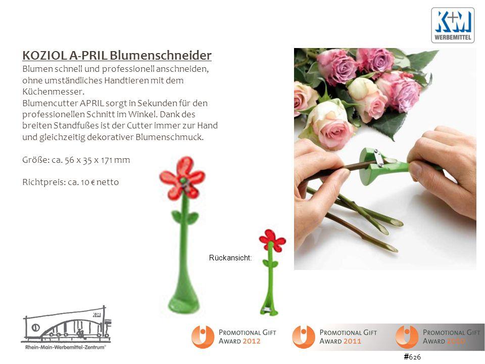 KOZIOL A-PRIL Blumenschneider Blumen schnell und professionell anschneiden, ohne umständliches Handtieren mit dem Küchenmesser. Blumencutter APRIL sor