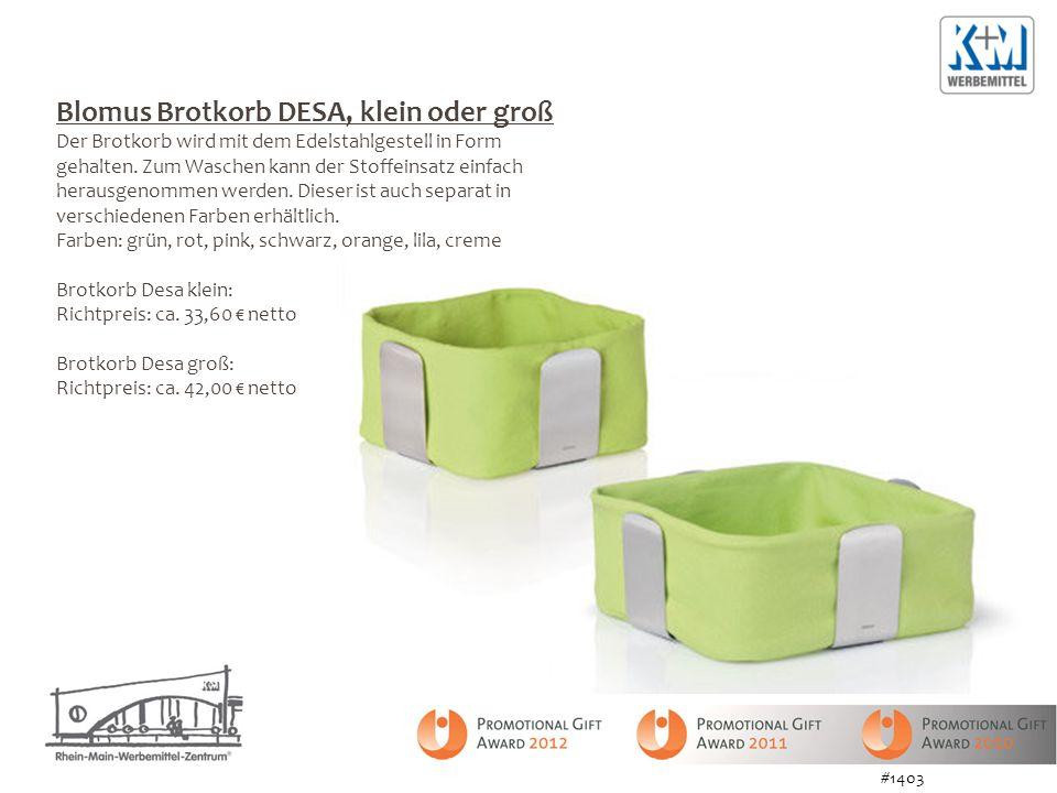 Blomus Brotkorb DESA, klein oder groß Der Brotkorb wird mit dem Edelstahlgestell in Form gehalten. Zum Waschen kann der Stoffeinsatz einfach herausgen