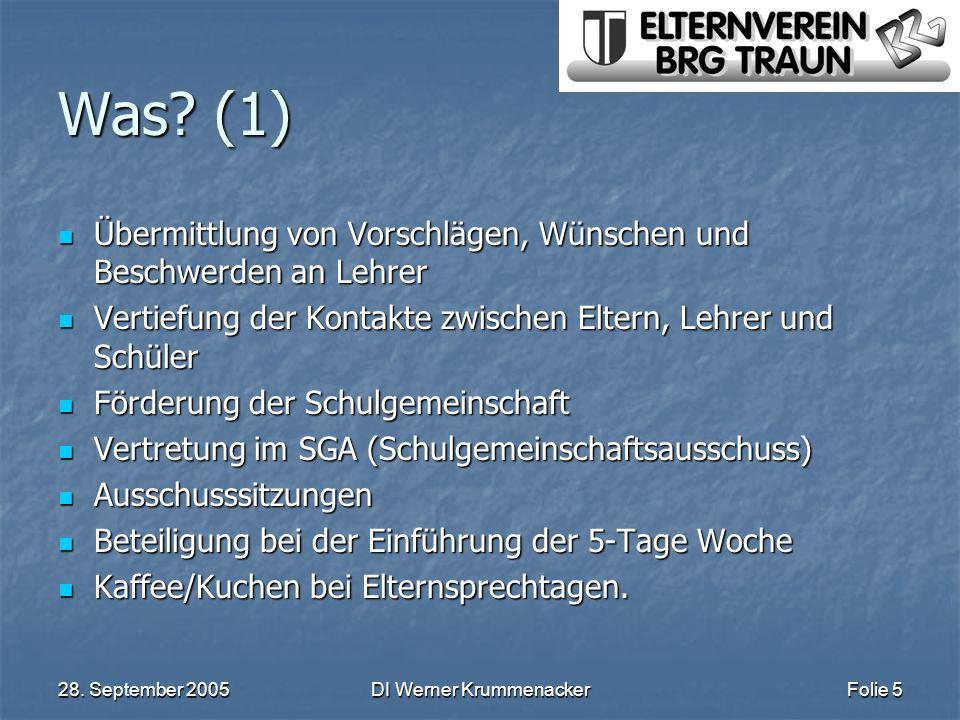 28.September 2005DI Werner KrummenackerFolie 6 Wie.