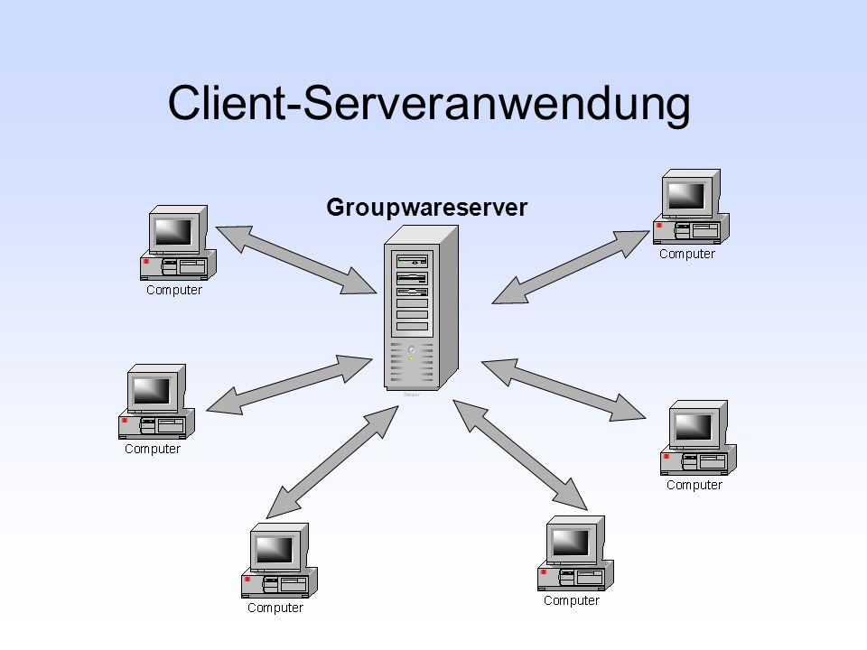 Client-Serveranwendung Groupwareserver