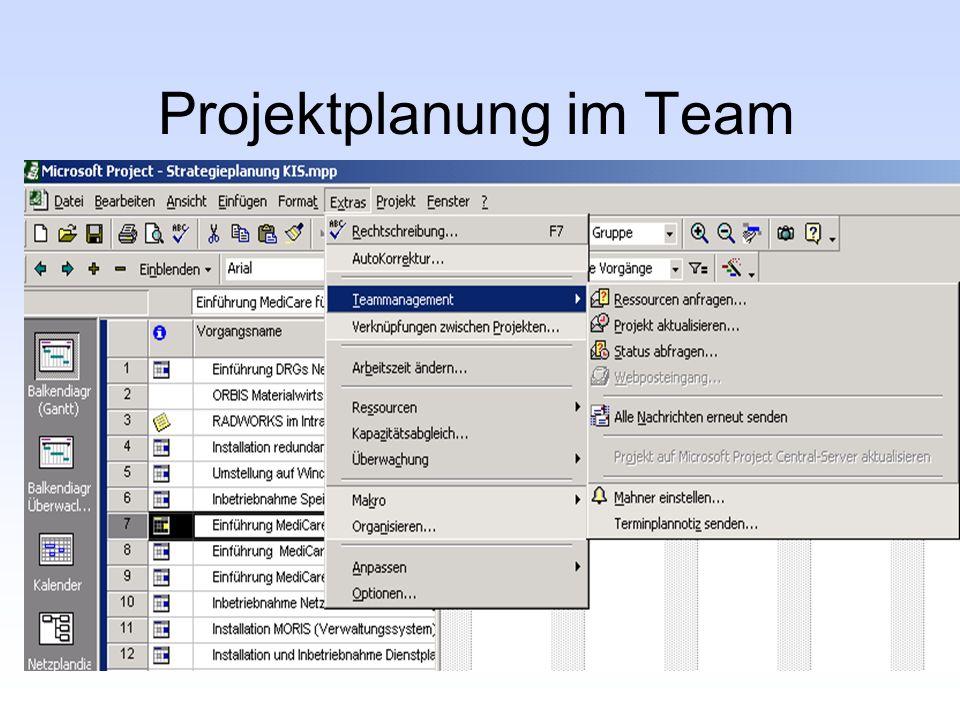 Projektplanung im Team