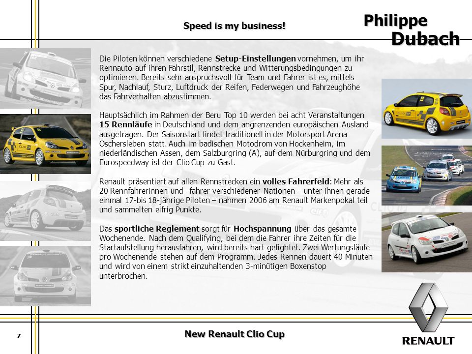 New Renault Clio Cup Speed is my business.