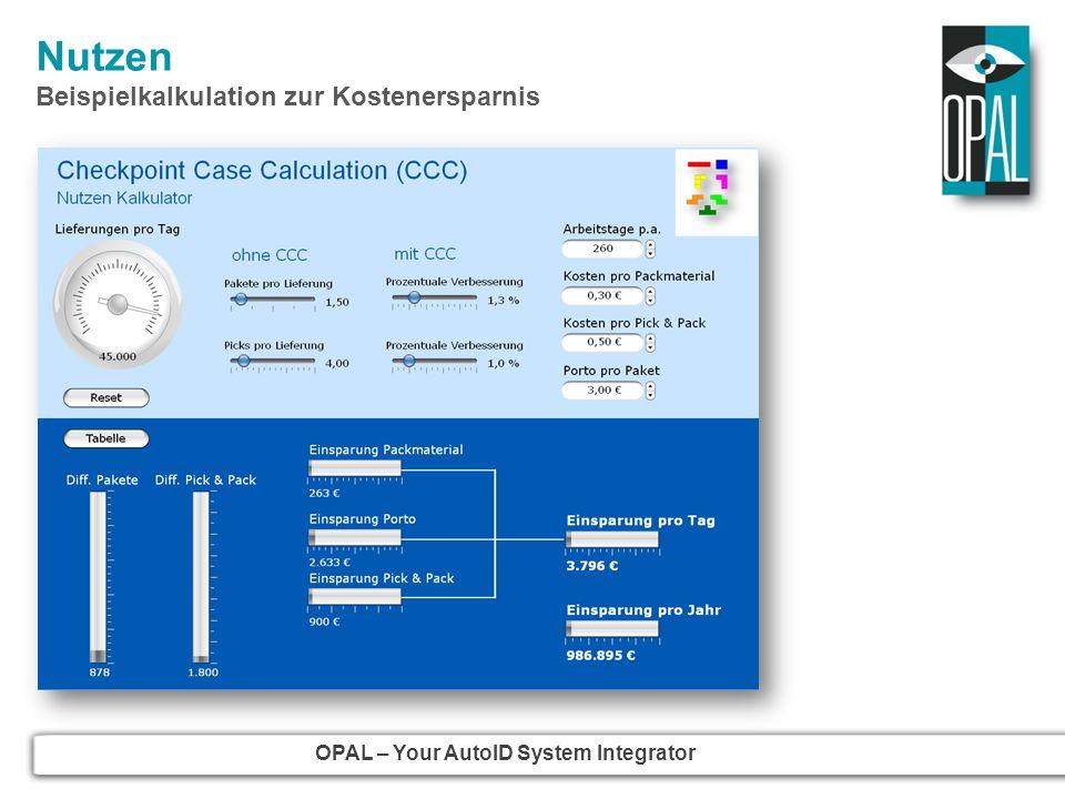 OPAL – Your AutoID System Integrator Nutzen Beispielkalkulation zur Kostenersparnis