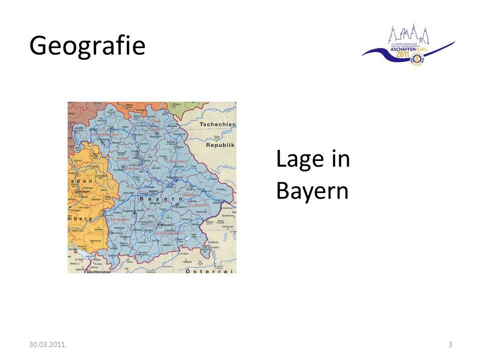 Geografie 30.03.20113 Lage in Bayern