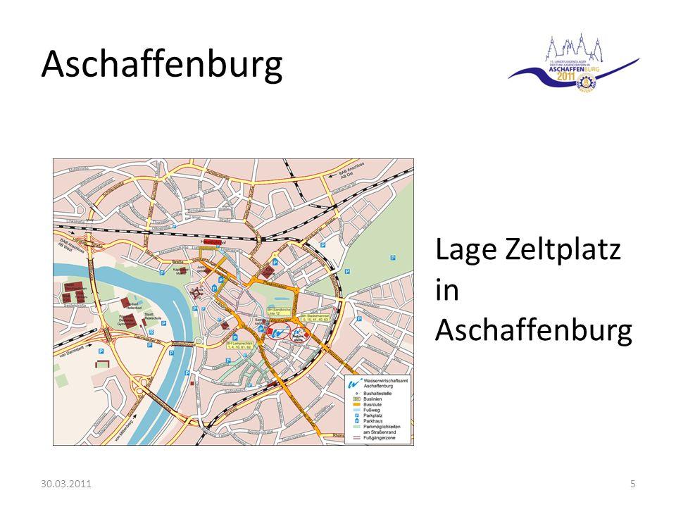 Aschaffenburg 30.03.20115 Lage Zeltplatz in Aschaffenburg