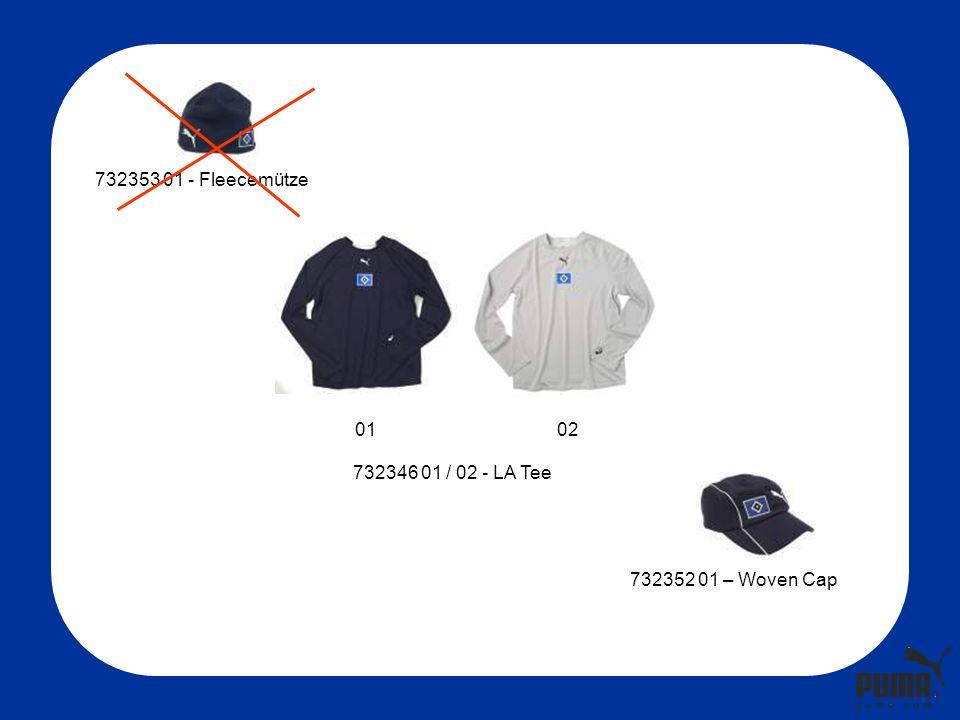 732346 01 / 02 - LA Tee 732353 01 - Fleecemütze 732352 01 – Woven Cap 0102