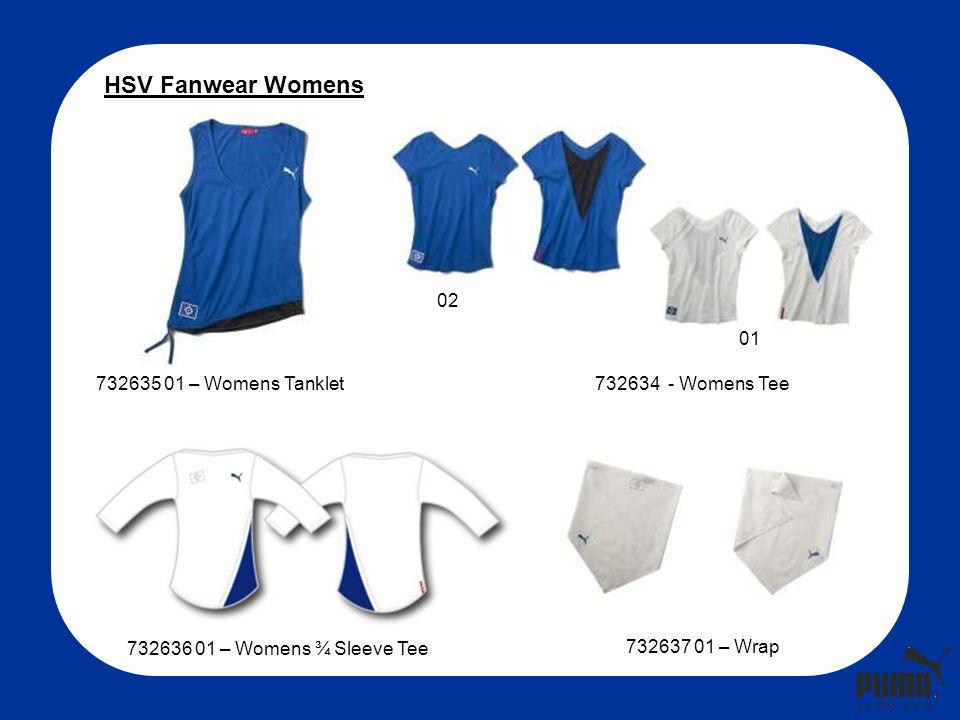 732635 01 – Womens Tanklet732634 - Womens Tee 732636 01 – Womens ¾ Sleeve Tee 732637 01 – Wrap HSV Fanwear Womens 02 01
