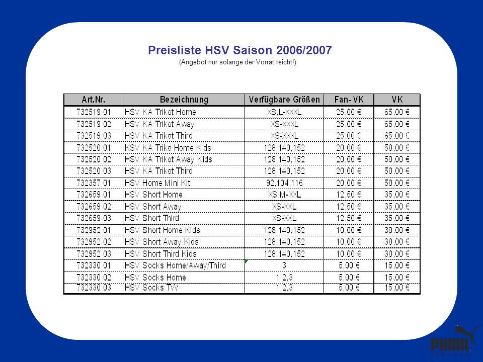 732630 02 - SL Tee 732628 01 - KA Tee 732631 01 – Polo Shirt732633 01 – Jacke732629 01 - LA Tee HSV Fanwear Mens