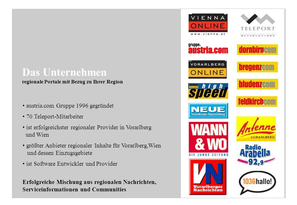 Online Medien: -www.vienna.at -www.austria.com -www.vol.at -www.oberoesterreich.com -www.dermarkt.at Nähere Infos: http://gruppe.austria.com